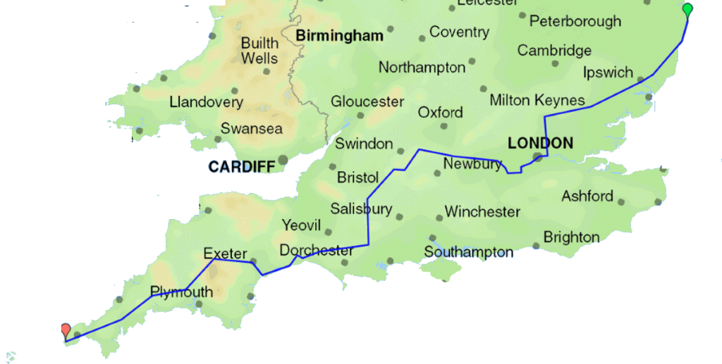 East West Route across England