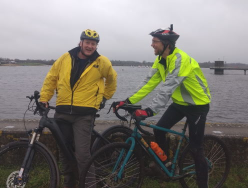 cyclists at Alton Water Reservoir